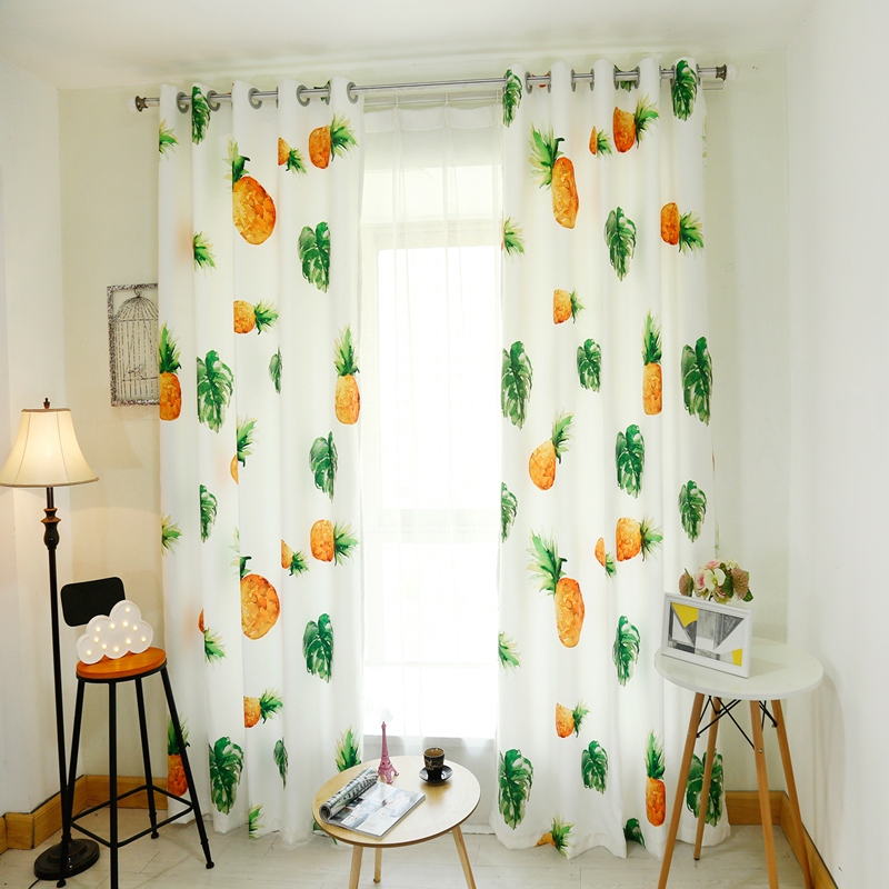 3D Blackout Curtains Cartoon Fruit Pineapple Watermelon Pattern Thickened  Velvet Fabric Children Bedroom Curtain For Living Room In Curtains From  Home ...