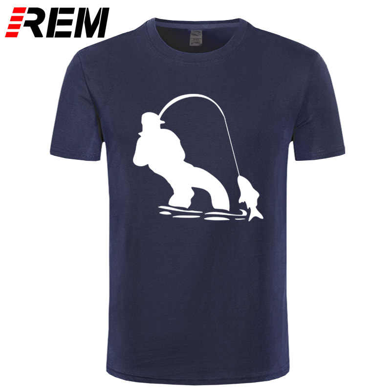 REM Authentic Tees Short-Sleeved Cloth Design Swag Fly Fishinger Fisherman Men Ali Shirt Online Nice T Shirts For Men
