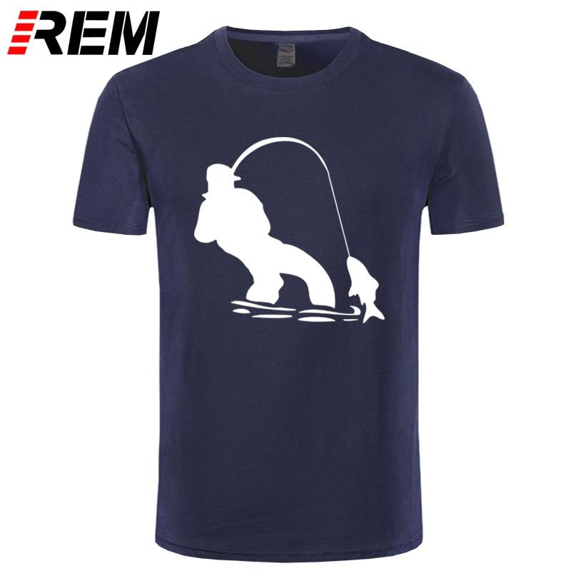 REM Authentic Tees Short-Sleeved Cloth Design Swag Fly Fishinger Fisherman Men Ali   Shirt   Online Nice   T     Shirts   For Men