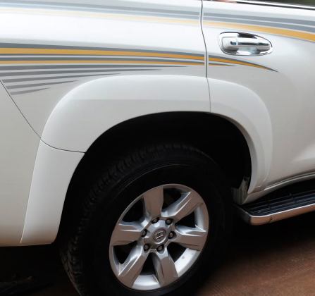 ABS Painting Fender Flare Body Kits For Toyota Land Cruiser Prado FJ 150 Accessories 2014-2017 Years 3m oem car body sticker for toyota land cruiser prado fj 150 accessories