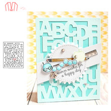 Mai ABC-Z letter Cover Panel Metal Cutting Dies Stencils for DIY Scrapbooking photo album Decorative Embossing DIY Paper Cards(China)