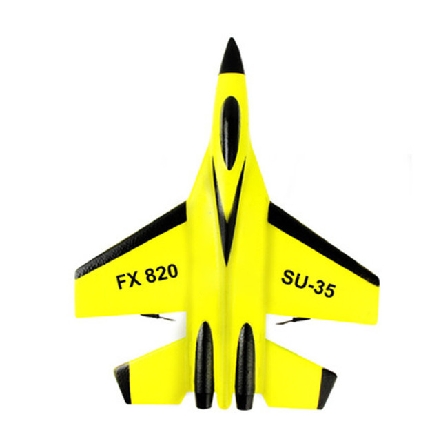 RC Plane Toy EPP Craft Foam Electric Outdoor RTF Radio Remote Control SU-35 Tail Pusher Quadcopter Glider Airplane Model for Kid 6
