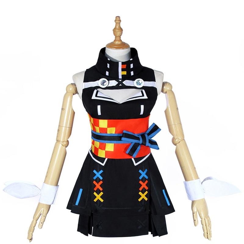 Retraso Mental Artificial Cosplay Halloween YouTuber Kaguya Luna AIcos Fiesta Colorblocking Femenina Debut Lady Dress Set