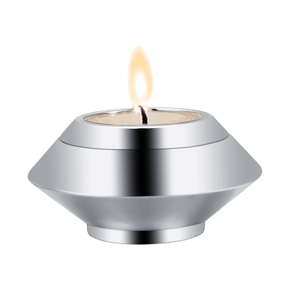 High Quality Cremation Urn Mirror Polsihed Stainless Steel Candlestick Urn for Human/Pet Ashes Keepsake Memorial klh9359 dog tag stype my fur angel pet urn necklace for ashes memorial keepsake cremation pendant funnel gift