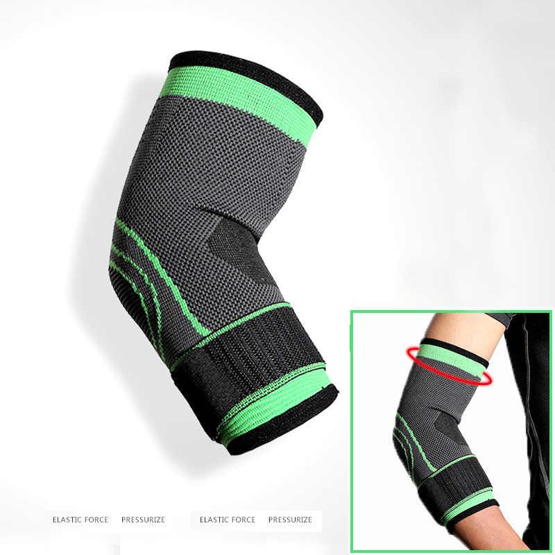 Vendaje elástico Elbow Brace Protector soporte de compresión de codo ajustable de prepárense para baloncesto voleibol deportes