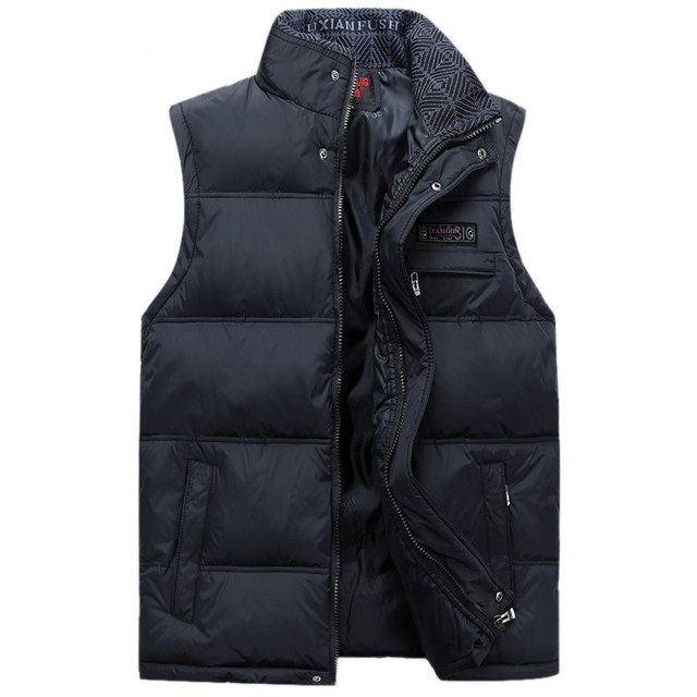2016 Men's Sleeveless Vest Homme Winter Casual Coats Male Plus size 4XL Warm Military Jacket Vest Men Waistcoat 3012