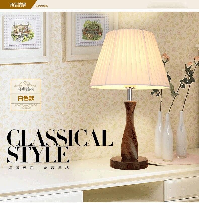 Туда 30X49 см Бесплатная доставка американский кантри Стиль настольная лампа твердой древесины настольная лампа для Гостиная Спальня светод...