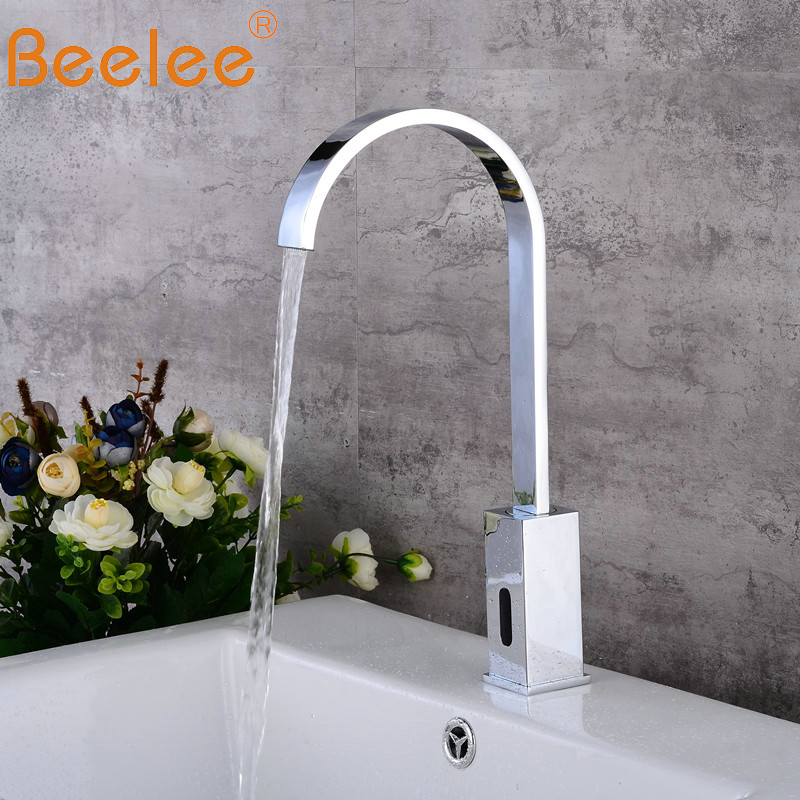 US $55.25 41% OFF|B public sanitaryware kitchen faucet touch sensor motion  sensor faucet (QH0143B)-in Basin Faucets from Home Improvement on ...