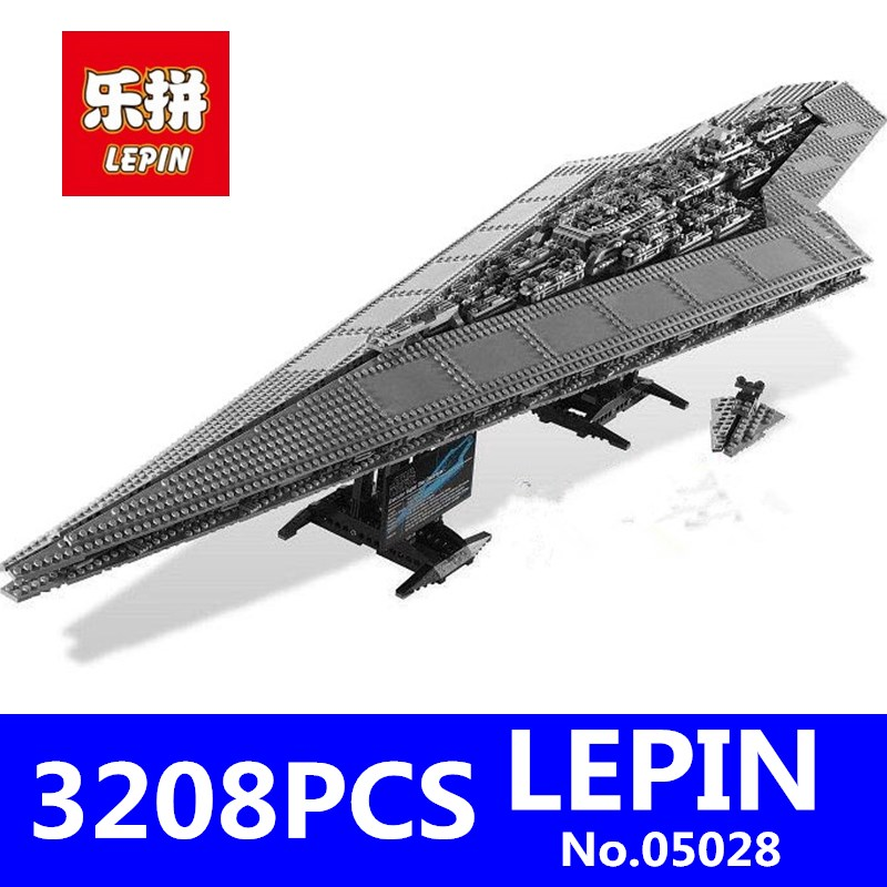LEPIN 05028 3208PCS Star Series Wars Imperial Star Destroyer Model Action Building Blocks Bricks Compatible 75055 Children Toys lepin 22001 pirate ship imperial warships model building block briks toys gift 1717pcs compatible legoed 10210