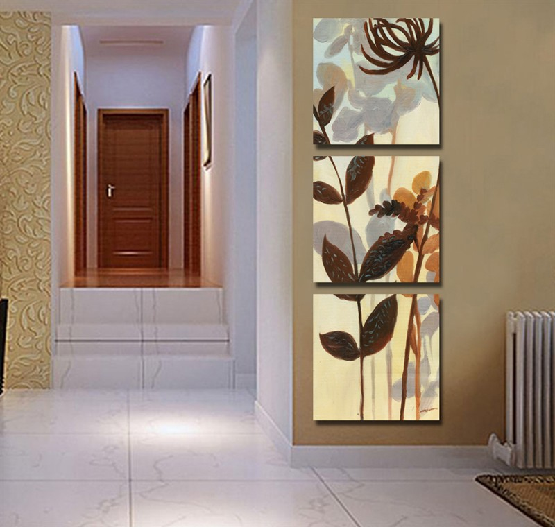 3 Panels Art Modern Decorative Painting Picture Canvas Print Living Room Abstract Paint Wall Hanging Pictures On The