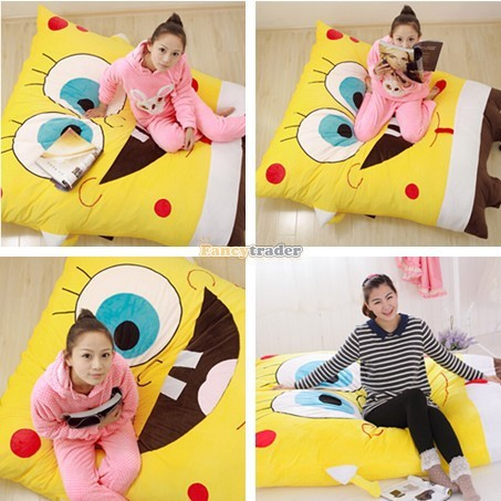 Fancytrader 190cm X 140cm Huge Giant Cute Spongebob Bed Carpet Sofa Tatami, Free Shipping FT90349 (1)