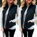 XXXL Women Winter Slim Fleece Warm Parka Trench Coat Sleeveless Jacket Vest Waistcoat Plus Size Europe and America