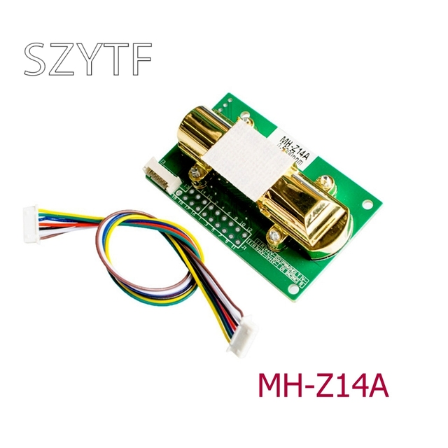 Infrared carbon dioxide sensor module CO2 MH Z14A serial port PWM analog output 0 5000ppm spot