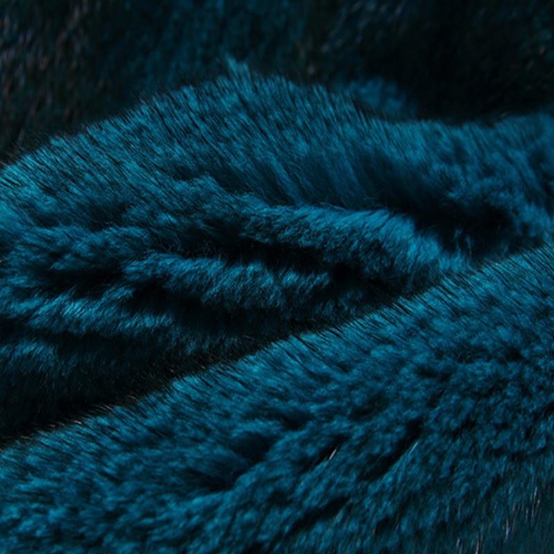 LVCHI Klasik hitam 2019 Musim Dingin Tebal Hangat Bulu Mantel Bulu - Pakaian Wanita - Foto 5
