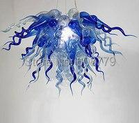 شحن مجاني جديد وصول الأزرق الكريستال الزجاج الملون الثريا-في النجف من مصابيح وإضاءات على