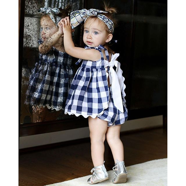 Spring New Baby Girl Clothes,Newborn Cotton red blue lattice baby ...