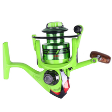 HiUmi Green 12+1 BB Ratio 5.2:1 Metal Spinning Fishing Reel 2000 3000 4000 5000 Fishing Gear for Freshwater Fishing Pesca