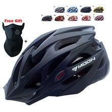 Moon marca profesional de la bicicleta casco ultraligero bicicleta casco integralmente moldeado casco ciclismo de carretera de montaña