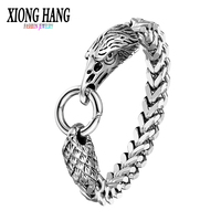 Xionghang Fashion Men S Bracelet 316L Stainless Steel Eagle Bracelet Bangle Retro Jewelry Wristband Charm Hand