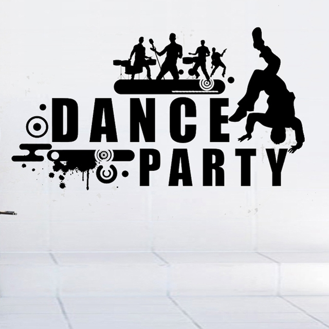 Dctal dance music party wall sticker rock car name stickers pub ktv decal home decoration mural