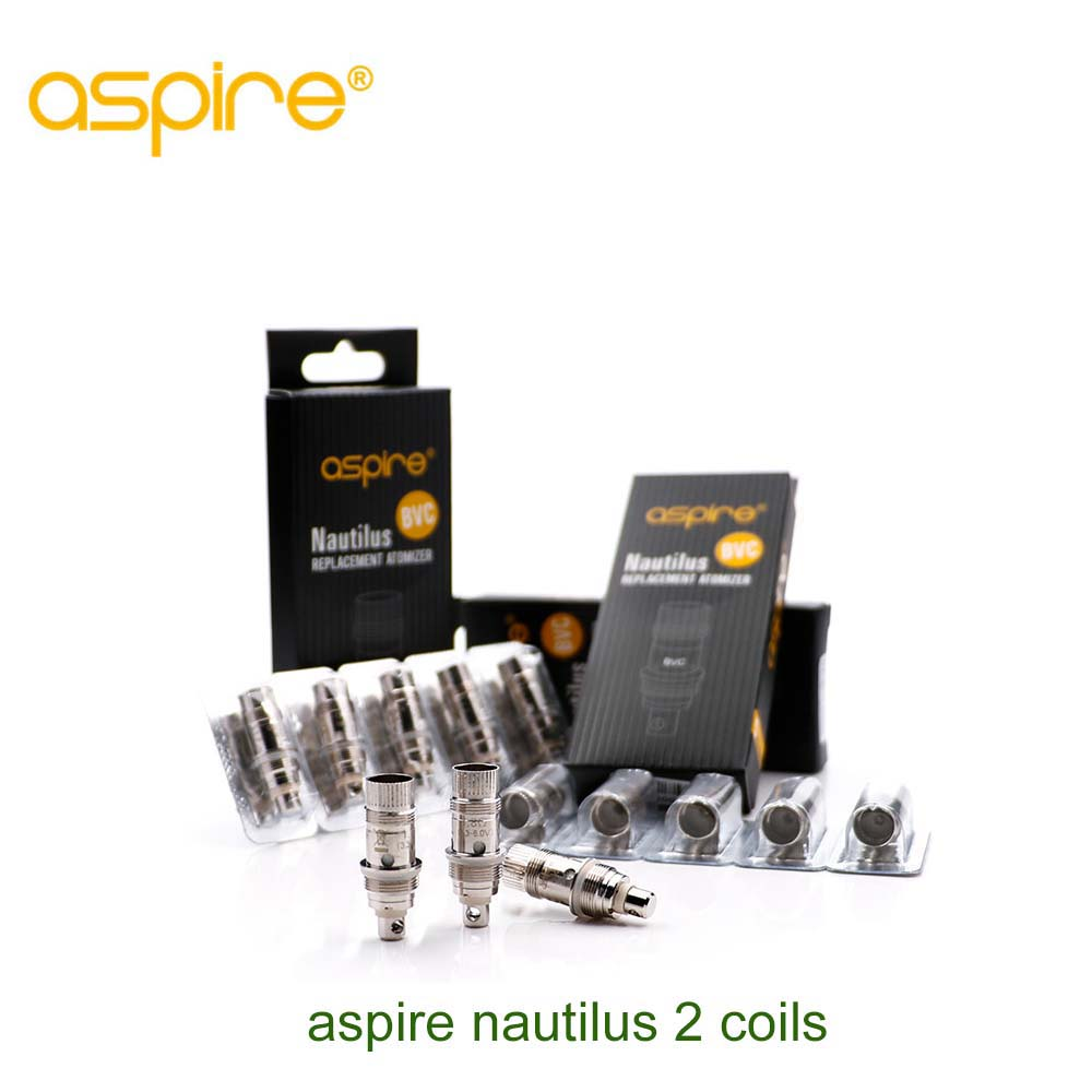 10pcs/pack Original Aspire Nautilus 2 BVC Coil hear for Nautilus Mini / K3 /Triton Mini Coil  e cigarette accessory e cigarettes aspire bdc coil 1 6 1 8 2 1ohms replacement bottom dual coil head for aspire vaporizer 5pcs lot