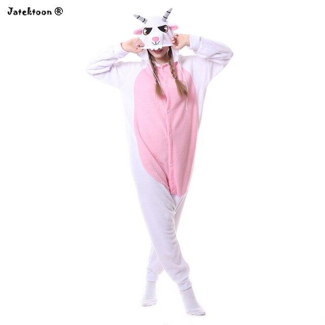 2018 новый милый козы ягненка Комбинезоны Пижама комбинезон унисекс взрослых  овец пижамы Костюмы для косплея Животные c2eb264ea268d