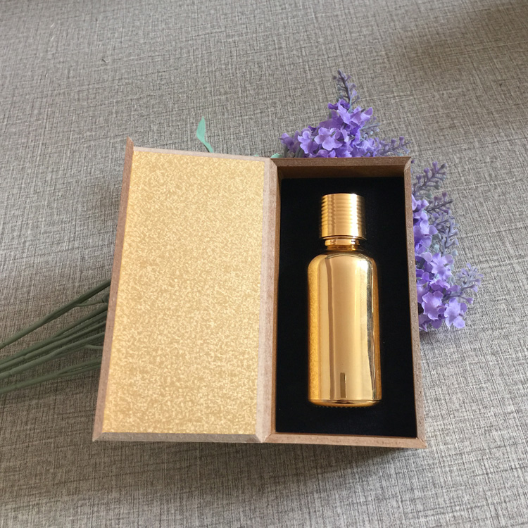 4pcs 30ml vacuum plating golden empty capsule bottle With wooden box,glass essential oil bottle,lotion cosmetics subpackage jar illusion money box dream box money from empty box wonder box magic tricks props comedy mentalism gimmick