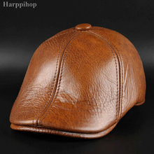 New men's leather leather cap in autumn and winter male Leat