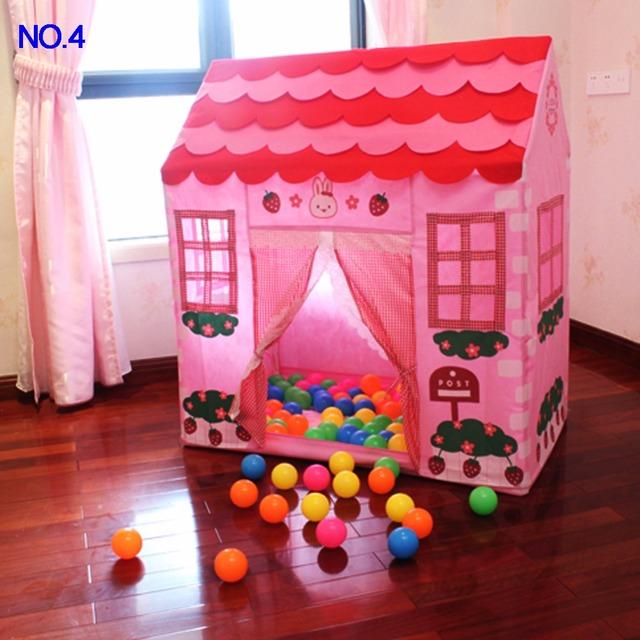 Niños Pop-Up Tienda del Juego Plegable portátil Chica Princesa Castillo Playhouse Juego Carpas Al Aire Libre de Interior