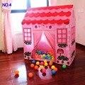Portátil Crianças Crianças Pop Up Jogar Tenda Dobrável Menina Castelo Da Princesa Jogo Ao Ar Livre Indoor Tendas Playhouse