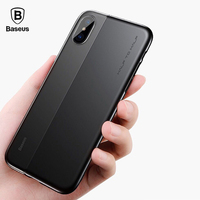Baseus Mobile Phone Case For IPhone X Cover Soft TPU Hard PC Protective Shell Back Cases