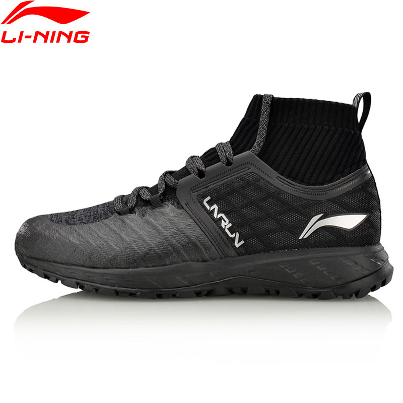 Li-Ning Men Shoes LN CLOUD SHIELD 2017 Running Shoes Mono Yarn WATER SHELL Cushion Sneakers Li Ning Sports Shoes ARHM083 trendy slimming round neck short sleeves button design solid color t shirt for men