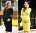 Otoño de corea las mujeres embarazadas suéter de maternidad otoño y el invierno nueva knit dress otoño