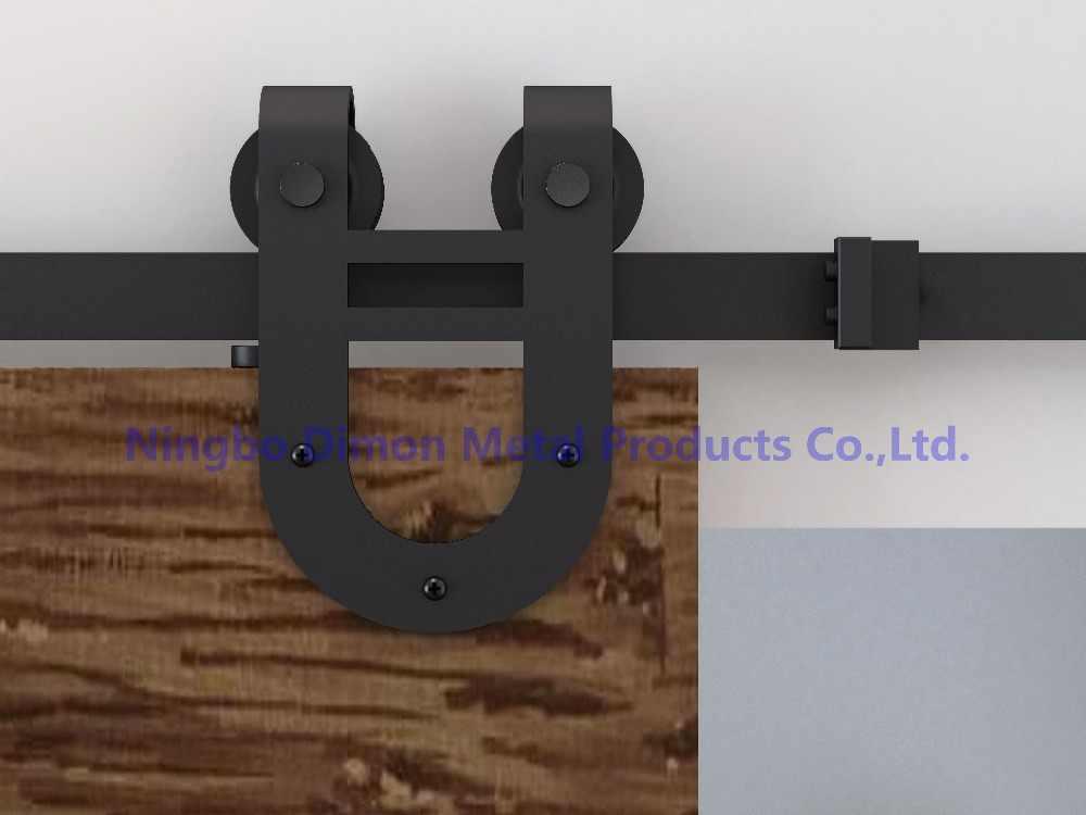 Бесплатная доставка Dimon две головки колеса деревянная раздвижная дверь оборудование DM-SDU 7203 с комплекты амортизаторов (без раздвижных рельсов)