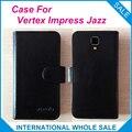 Hot!! 2017 vertex impressionar jazz case, 6 Cores de Alta Qualidade Original de Couro Exclusivo da Tampa do Saco Do Telefone de Rastreamento