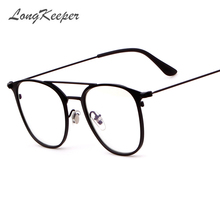2642b75e825e81 Long Keeper LongKeeper Classic Vintage Transparent Round Unisex Nerd  Eyeglasses Frame