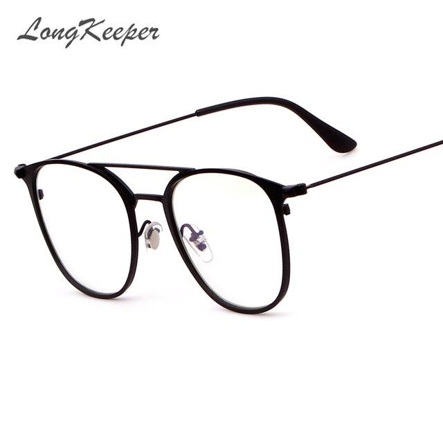 LongKeeper Classique Vintage Transparent Lunettes Rondes Unisexe Nerd  Lunettes Cadre Clair Lunettes Lunette De Vue Lunettes 63d08d350841