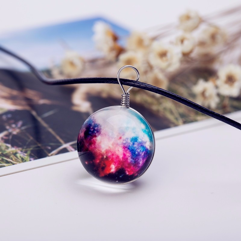 HTB14bLwNXXXXXatXFXXq6xXFXXXu - Collares Duplex Planet Crystal Stars Ball Glass Galaxy Pattern