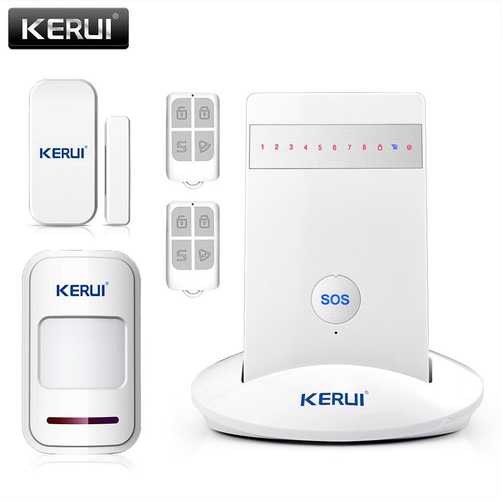 Newest KR-G15 Wireless Alarm Systems Security Home Burglar Alarm System Android ios APP Controlled GSM 850/900/1800/1900MHz efcom pro wireless 850 900 1800 1900mhz gprs gsm module w antenna white