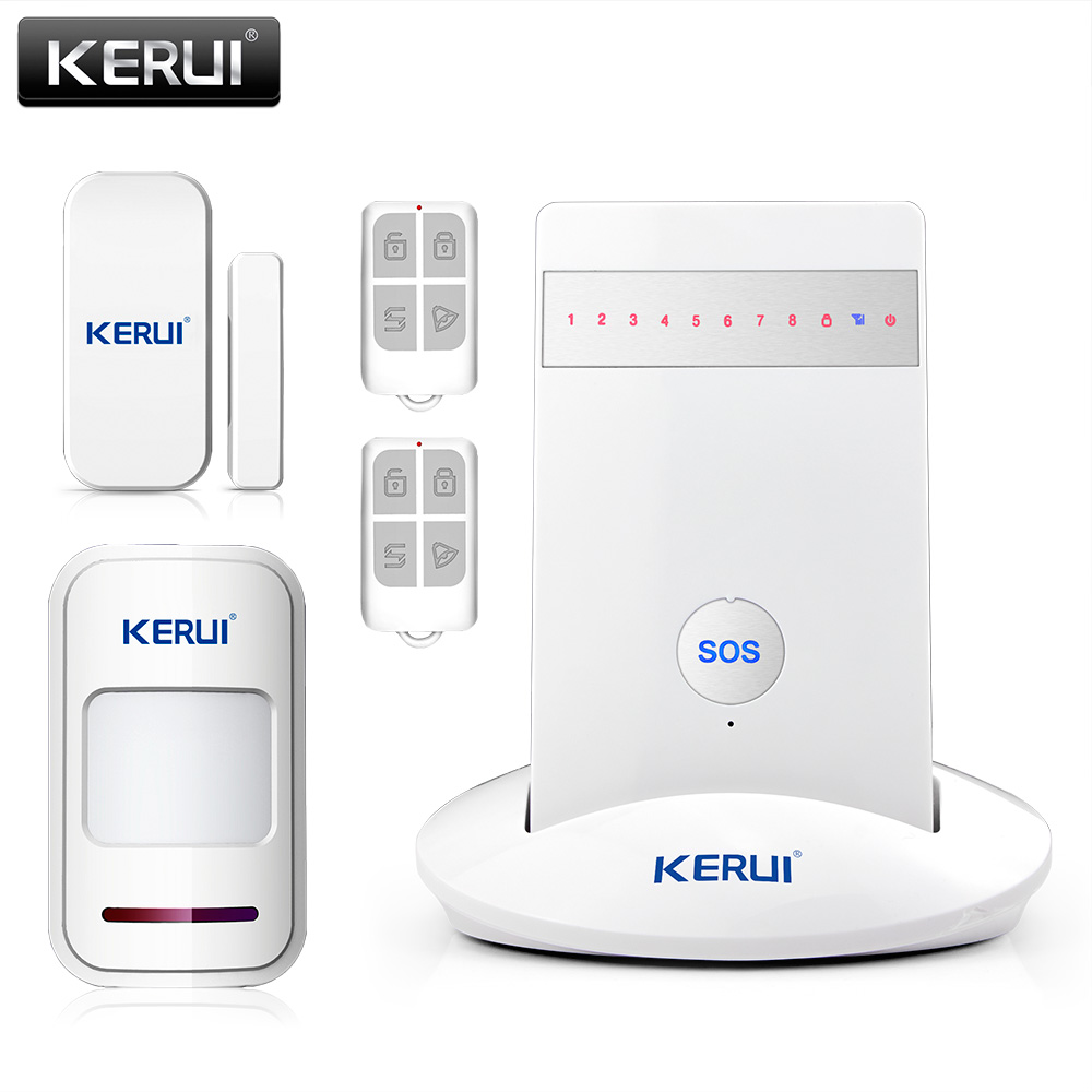 Più nuovo KR-G15 Sistemi di Allarme Wireless Home Security Sistema di Allarme Antifurto ios Android APP Controllata GSM 850/900/1800/1900 MHz