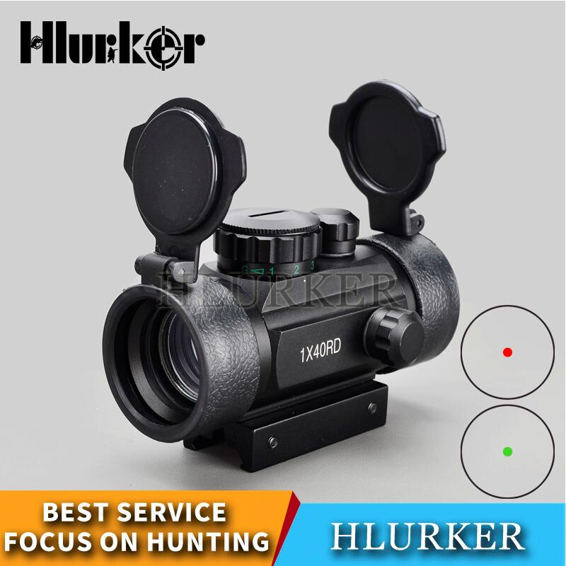 Military Tactical Hunting Holographic Sight 1x40mm Airsoft Cross Hari Red-Dot-Sight Rifle Scope Match 11 & 20mm Rail Mount