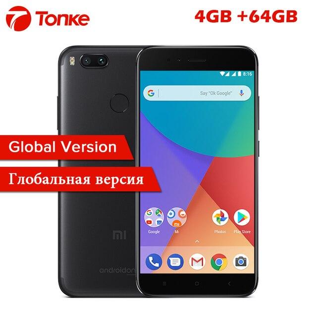 """Глобальная версия Сяо Mi A1 MiA1 4 ГБ Оперативная память 64 ГБ Встроенная память Snapdragon 625 Octa Core 5.5 """"FHD 12MP двойной Камера отпечатков пальцев ID мобильного телефона"""