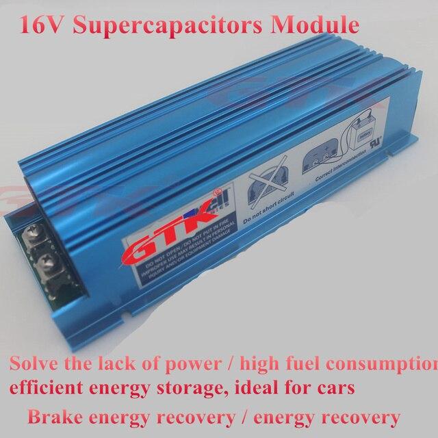 US $128 0 |16V 58F Supercapacitors Module Start Power Motor Super Farad  Capacitor 6x 2 7V 350F car 16v 2 7V 500F rectifier car energy-in  Replacement