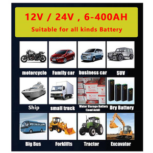 Image 4 - Große Power 12V 24V Intelligente Batterie Ladegerät für Automotive Motorrad Boot Gabelstapler Lkw Blei Säure Wartung freie Batterien