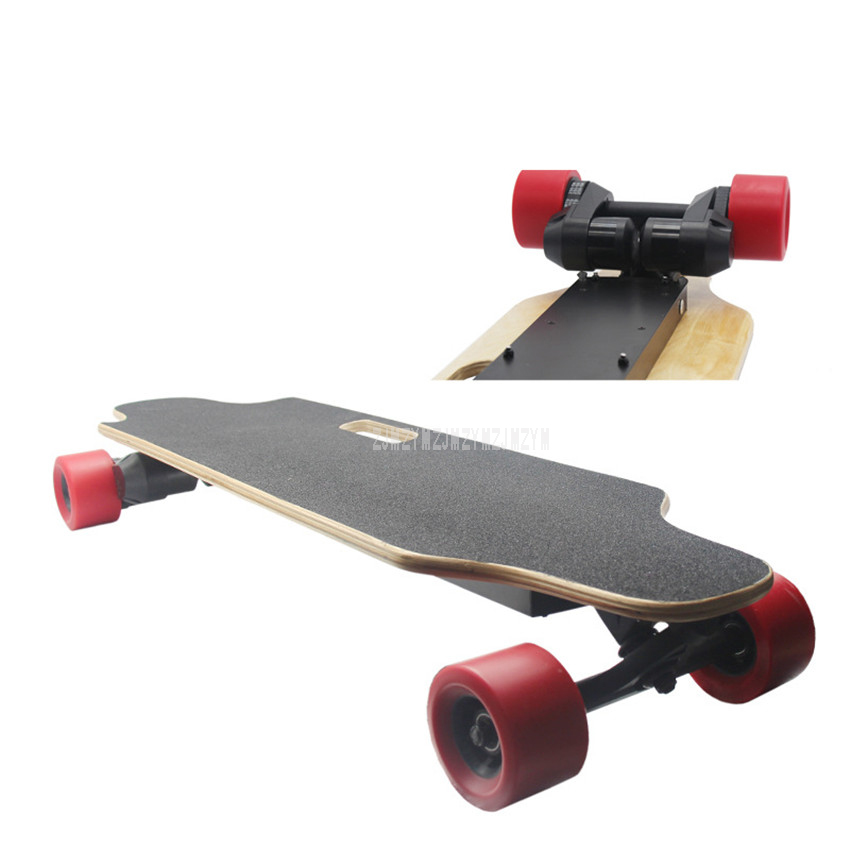 a68b26ce9a19 4 Wheel Double Motor Electric Skateboard Remote Control Adult Scooter 40Km/h  Wood Longboard Skate Board Hoverboard 1600W