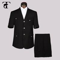 2016 Summer Short Sleeve Blazer Office Uniform Design Garment Factory Slim Fit Blazer For Men Apparel