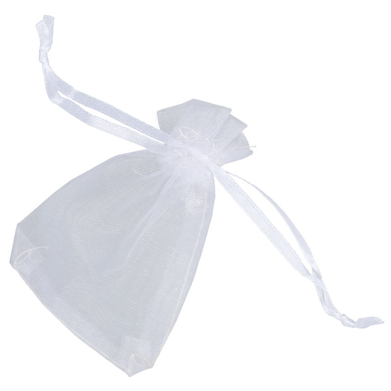 Practical Boutique  25 × organza bag gift bag pouch white(China)