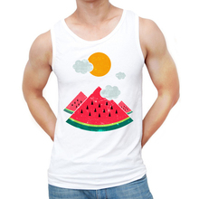 7a0fed18f9f85 New 2018 Summer Men Fashion eatventure time Design Tank tops Watermelon  Printed Vest Hipster Funny Singlets