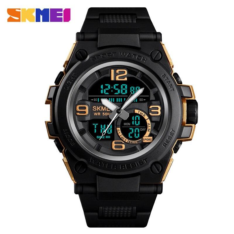 Herrenuhren Ausdrucksvoll Skmei Männer Quarz Sport Armbanduhr Fashion Trend Wasserdichte Multi-funktion Digital Bucle Uhren Auto Datum Uhr