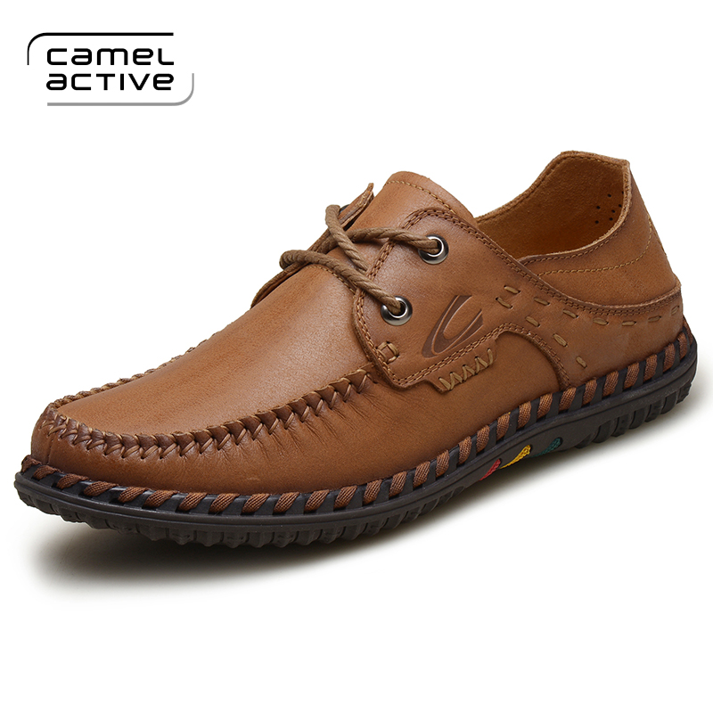 Camel Active 2018 Fashion Style Soft Moccasins Men Loafers High Quality Genuine Leather Shoes Men Flats Gommino Driving Shoes 2016 fashion rivets moccasins genuine leather men loafers soft leather shoes men s ballet flats slip on gommino driving shoes